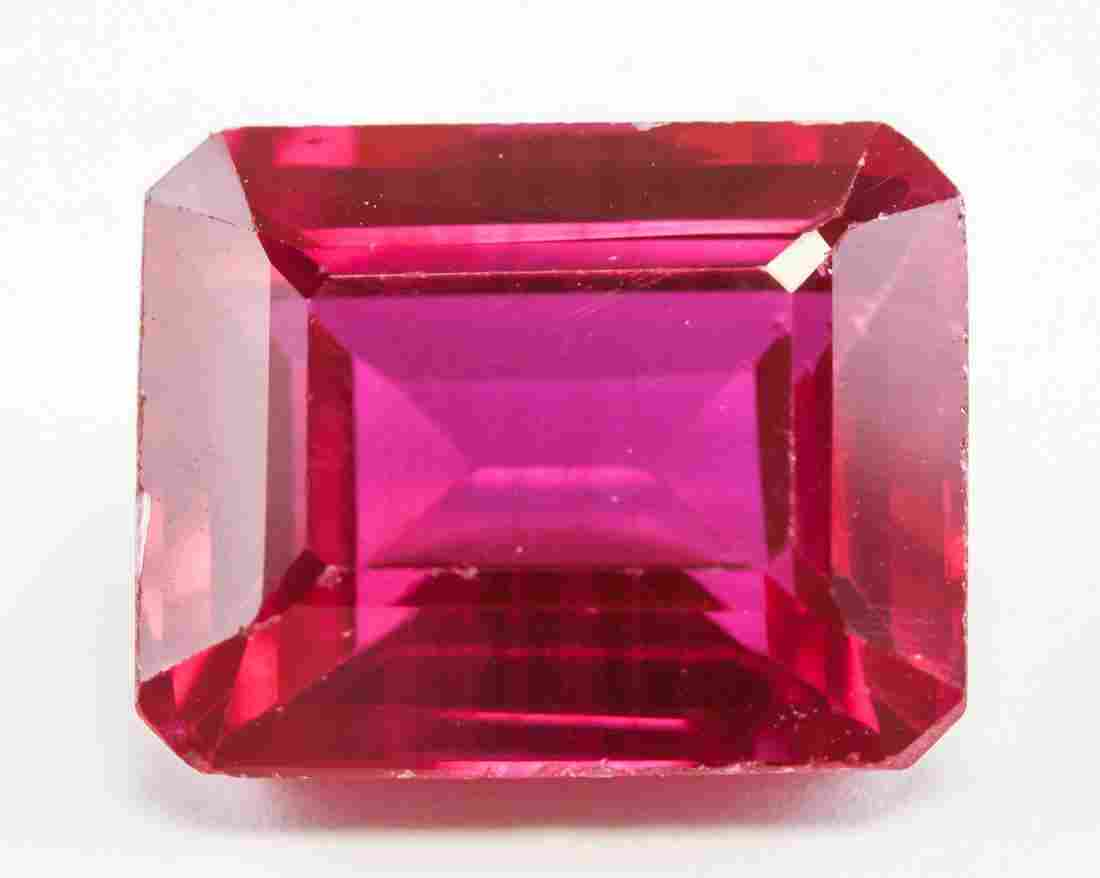 12.95ct Emerald Cut Pink Natural Ruby GGL