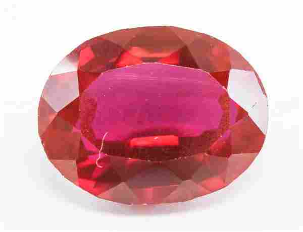 15.85ct Oval Cut Red Burma Natural Ruby GGL