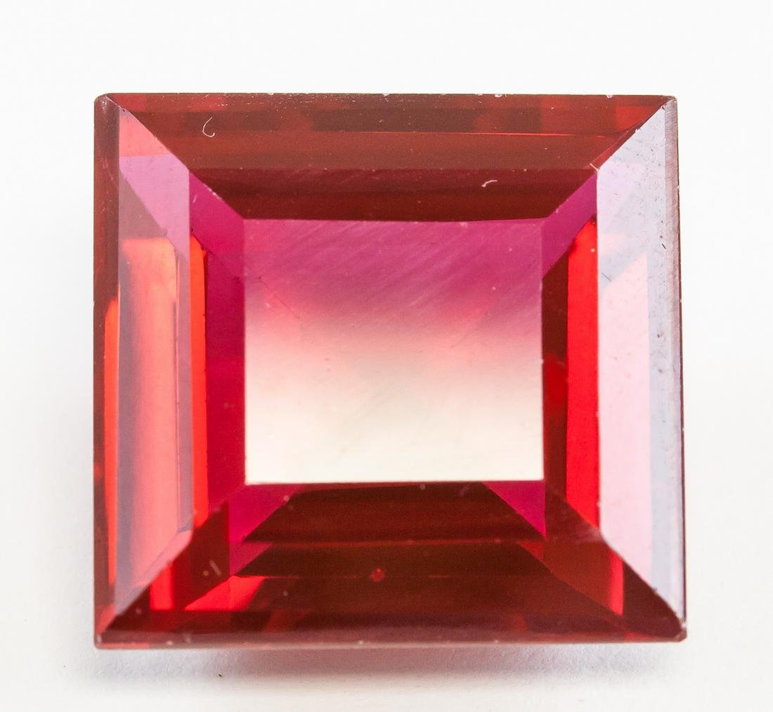 33.45ct Emerald Cut Blood Red Natural Ruby GGL