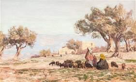 George Macco 1863-1933 German Oil on Canvas