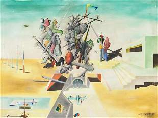 Yves Tanguy French Oil on Canvas Provenance