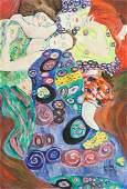 Gustav Klimt Austrian Modernist Oil on Canvas