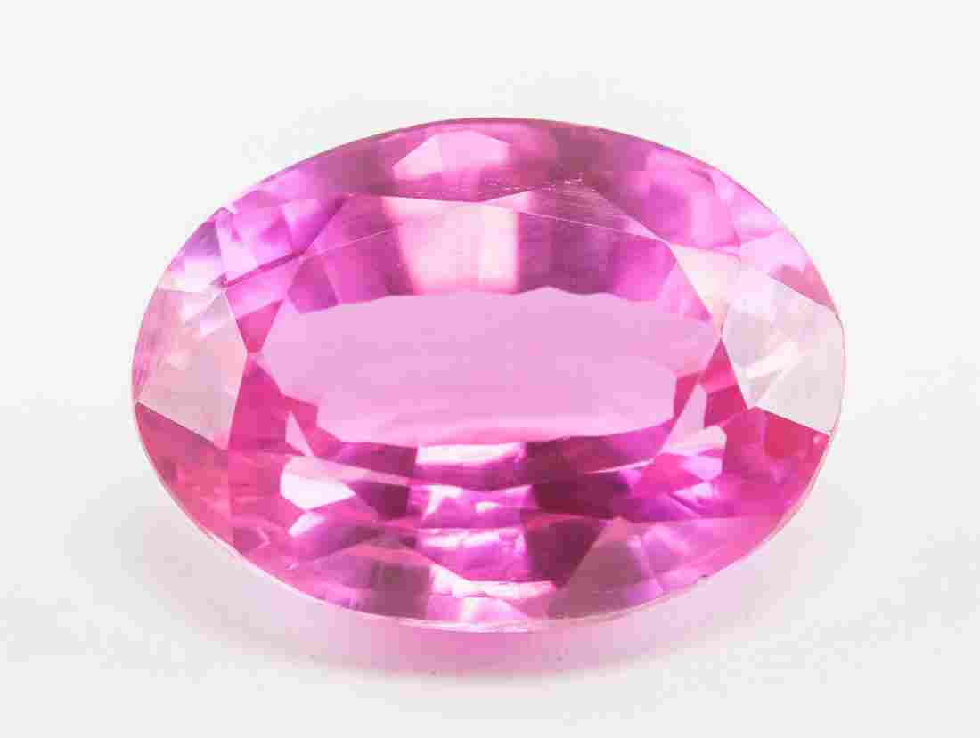 12.80ct Oval Cut Pink Natural Ruby GGL