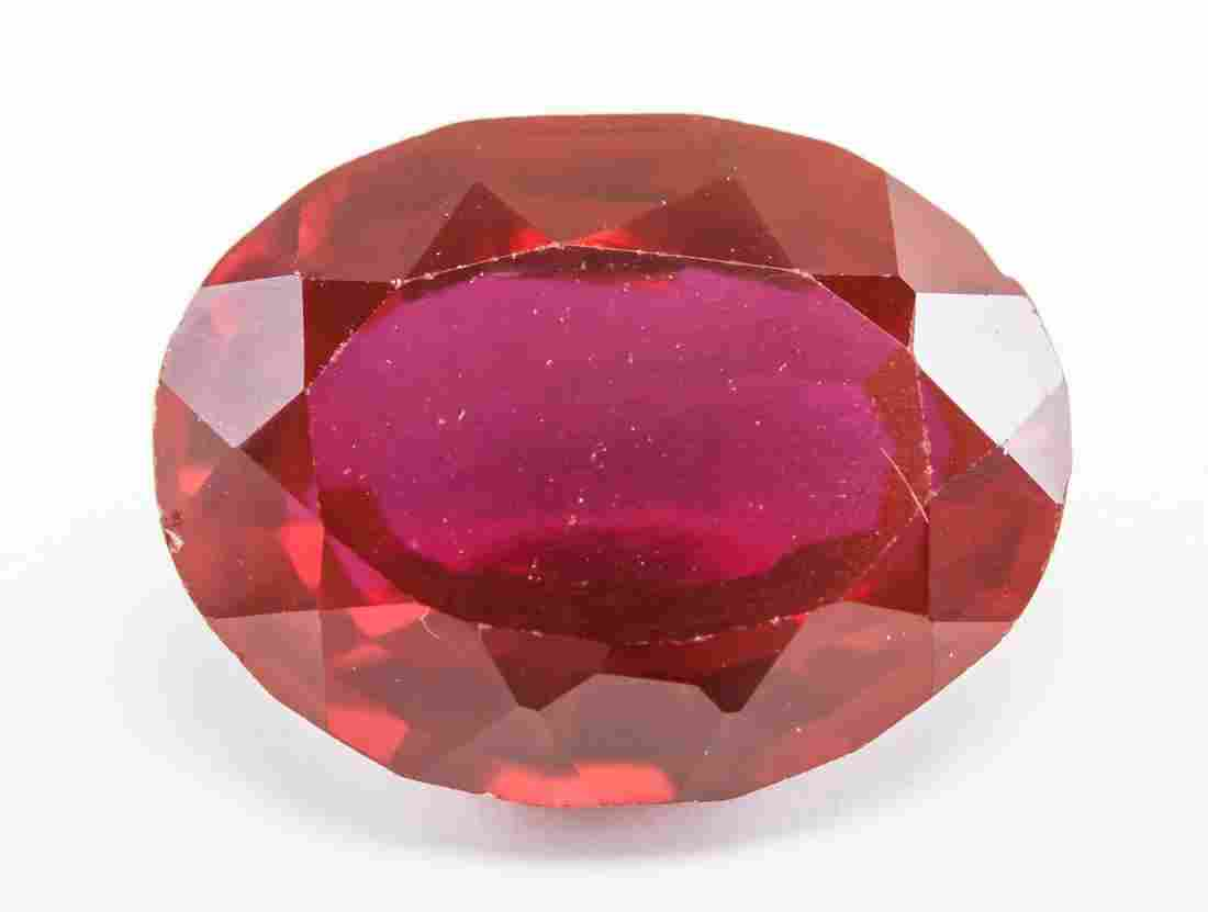 18.05ct Oval Cut Red Burma Natural Ruby GGL