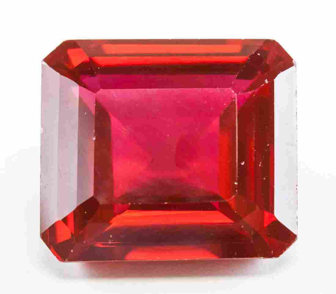 44.75ct Emerald Cut Blood Red Natural Ruby GGL