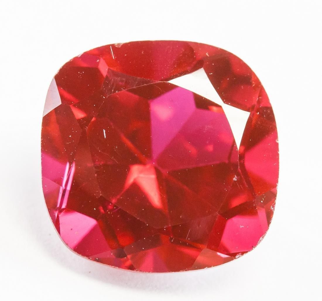9.35ct Cushion Cut Red Natural Ruby AGSL