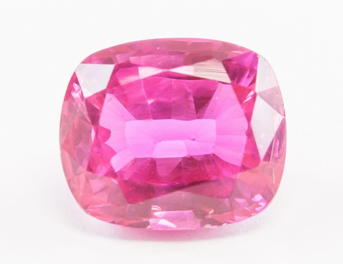 9.40ct Cushion Cut Pink Natural Ruby GGL