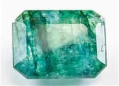 10ct Emerald Cut Green Natural Emerald GGL