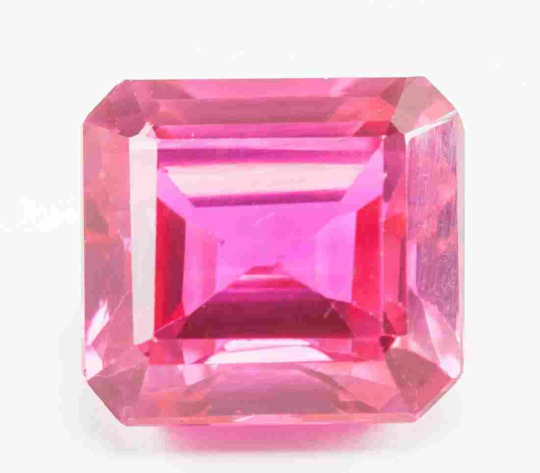 13.95ct Emerald Cut Pink Natural Ruby GGL