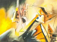 Roberto Matta Chilean Modernist Oil on Canvas