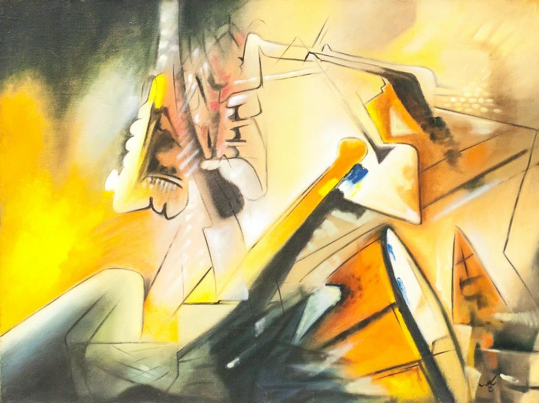 Roberto Matta Chilean Modernist Oil on Canvas