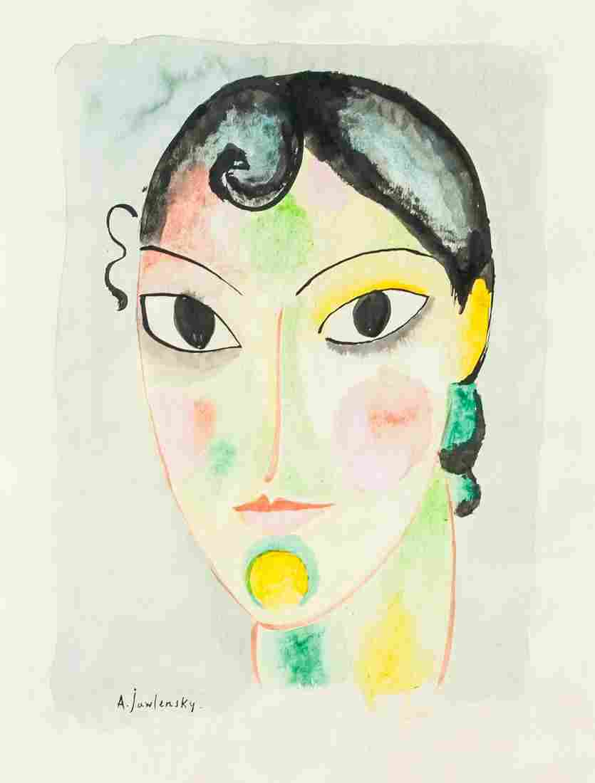 Alexei Von Jawlensky Russian Watercolor on Paper