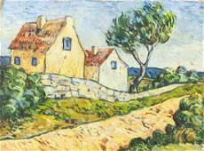Dutch Modernist Oil on Canvas Signed Vincent
