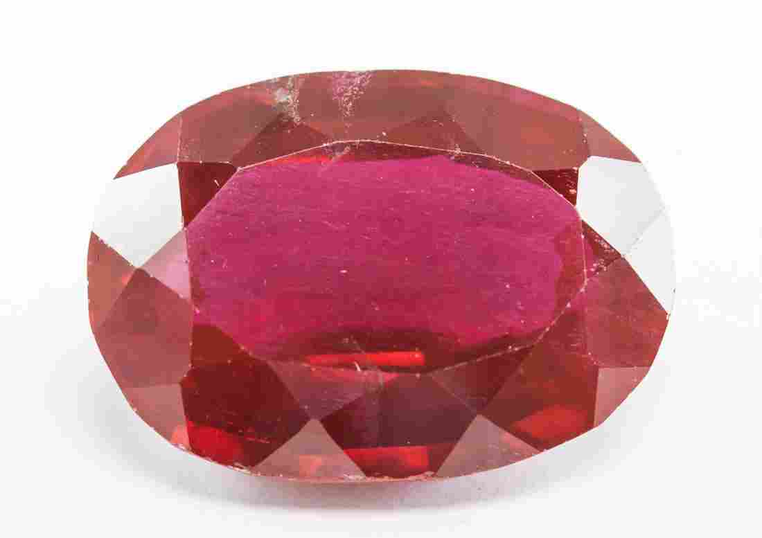 38.35ct Oval Cut Blood Red Natural Ruby GGL