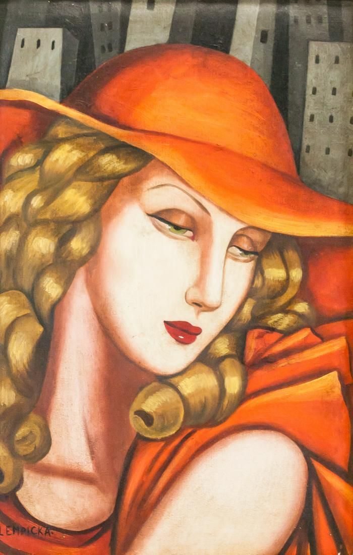 Tamara de Lempicka Polish Modernist Oil on Canvas