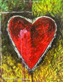 Jim Dine American Pop Acrylic on Canvas 1984