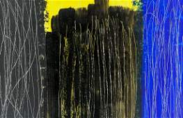 Hans Hartung FrenchGerman Lyrical Oil on Canvas
