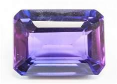 8.80ct Emerald Cut Purple Natural Taaffeite GGL