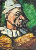 Attr. Georges Rouault French Fauvist Oil on Canvas