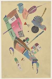 Wassily Kandinsky Russian Signed Linocut