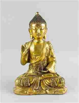 Chinese Gilt Bronze Medicine Buddha Yongle Mark