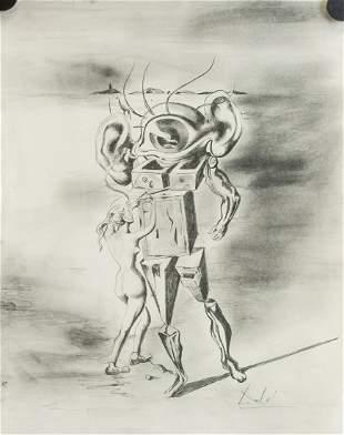 Salvador Dali Spanish Surrealist Graphite on Paper