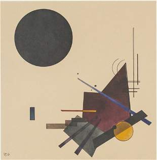 Wassily Kandinsky Russian Signed Litho on Paper