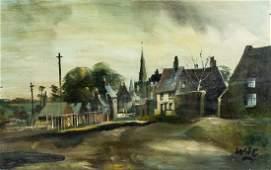 Winston Churchill British Impressionist Oil Board