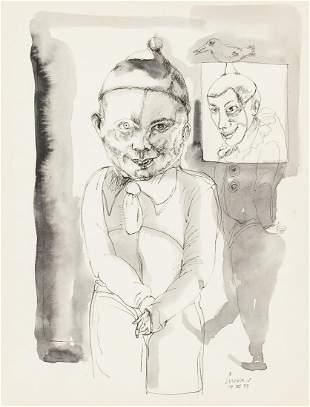 Jose Luis Cuevas Mexican Modernist Ink on Paper