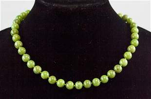 Chinese Green Jade Necklace