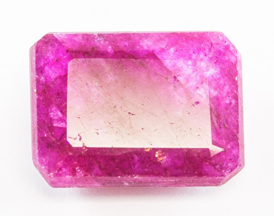 10.10ct Emerald Cut Pink Natural Bixbite GGL
