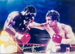 Livingstone Bramble and Ray Mancini Signed Photo