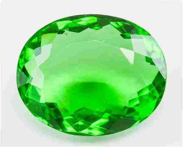 73.85ct Oval Cut Green Peridot GGL