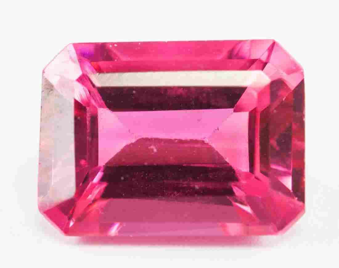 3.85ct Emerald Cut Pink Natural Zultanite GGL