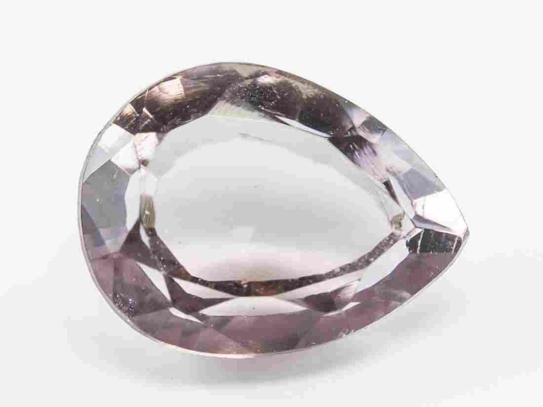 5.00ct Pear Cut Pink Natural Rhodolite Garnet  AGI