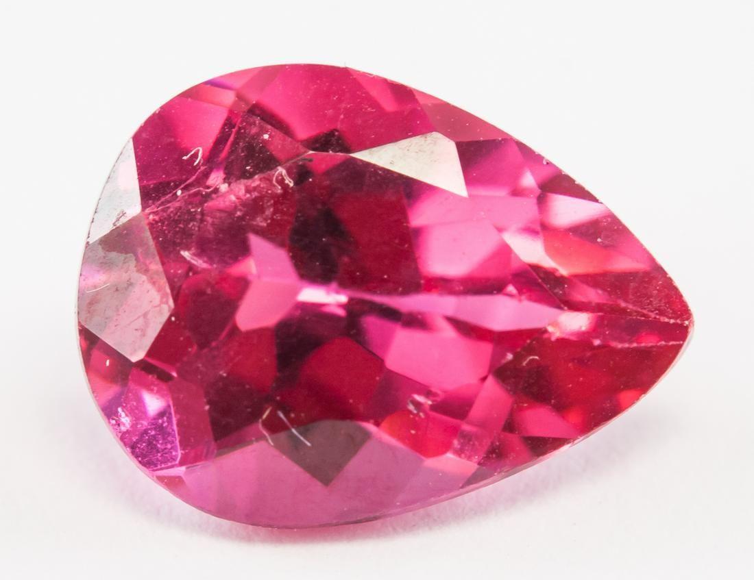 3.50ct Pear Cut Pink Natural Zultanite GGL