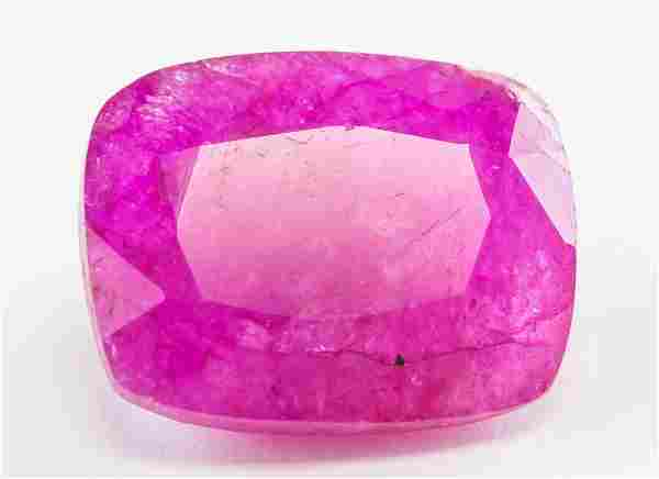 16.15ct Cushion Cut Pink Natural Bixbite GGL
