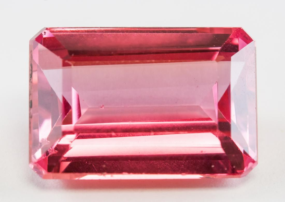 12.65ct Emerald Cut Pink Natural Spinel GGL