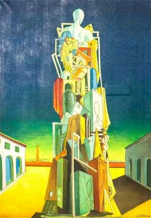 Giorgio de Chirico Italian Surrealist Oil Canvas