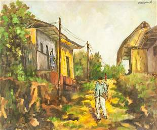 Williams R. Oil on Canvas Landscape Painting