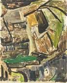 David Bomberg British Abstract Oil on Canvas