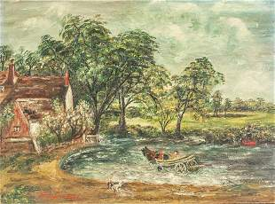 John Constable British Oil/Board Galerie Vallauris