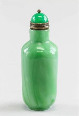 Chinese Green Peking Glass Snuff Bottle