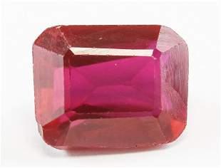 8.60ct Emerald Cut Natural Red Ruby GGL Cert