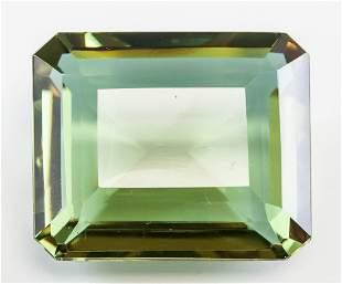 116.40ct Emerald Cut Brown/Green Alexandrite GGL