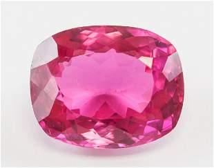 28ct Cushion Cut Pink Natural Ruby Gem AGSL Cert