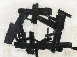 Franz Kline American Abstract Oil on Board