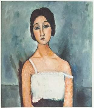Amedeo Modigliani Italian Signed Litho 33/100