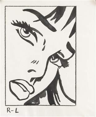 Roy Lichtenstein American Mixed Media on Paper