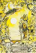 Marc Chagall French-Russian Mixed Media on Paper